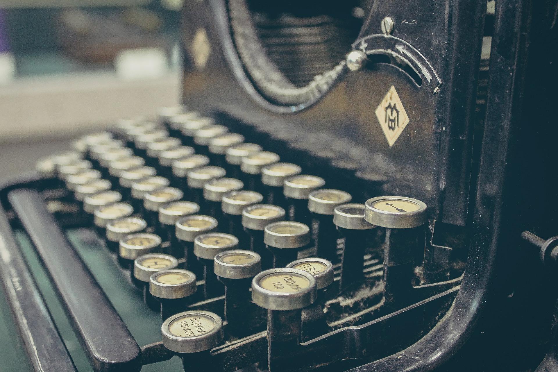 Typewriter for writing a book